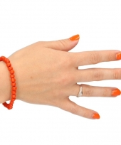 Carnavalskleding supporter armband oranje