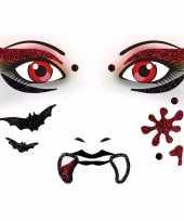 Carnavalskleding thema gezicht folie sticker vel