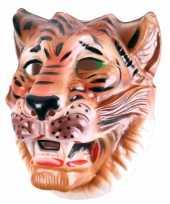 Carnavalskleding tijger masker bruin volwassenen