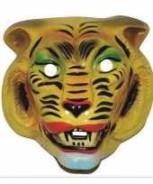 Carnavalskleding tijger masker geel volwassenen