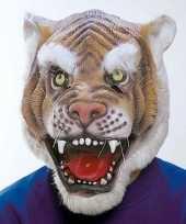 Carnavalskleding tijger masker latex