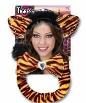 Carnavalskleding tijgerin setje volwassenen