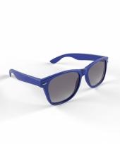 Carnavalskleding trendy zonnebrillen donkerblauw