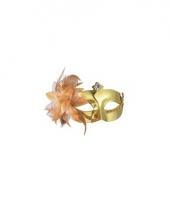 Carnavalskleding venetiaanse oogmaskers metallic goud