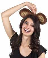 Carnavalskleding verkleed aap hoofdband bruin volwassenen