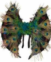 Carnavalskleding vleugels pauwenveren