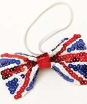 Carnavalskleding vlinder strik engelse vlag