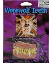 Carnavalskleding weerwolf tanden