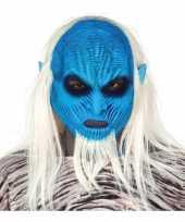 Carnavalskleding white walker horror halloween masker