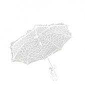 Carnavalskleding witte vinage paraplu