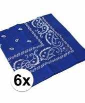 Carnavalskleding x blauwe boeren zakdoeken