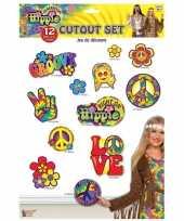 Carnavalskleding x hippie decoratieborden