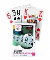 Carnavalskleding x senioren speelkaarten plastic poker bridge kaartspel