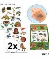 Carnavalskleding x tatoeages dinosauriers jongens vellen