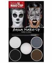 Carnavalskleding zebra dieren schminken schminkset