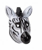 Carnavalskleding zebra masker gemaakt plastic d cm