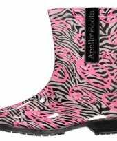 Carnavalskleding zebra print regenlaarzen dames
