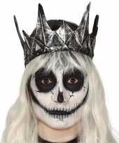 Carnavalskleding zilveren horror koning koninginnen kroon