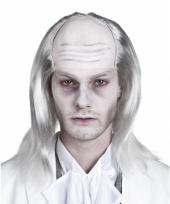 Carnavalskleding zombie heren pruik grijs