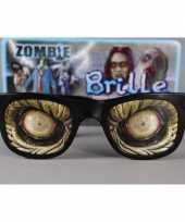 Carnavalskleding zombie ogen bril retro vorm