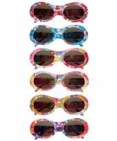 Carnavalskleding zonnebril bloemetjes