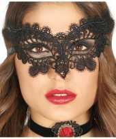 Carnavalskleding zwart gemaskerd bal oogmasker dames