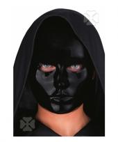 Carnavalskleding zwart mensen gezicht masker