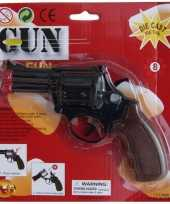 Carnavalskleding zwarte detective revolver