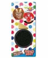 Carnavalskleding zwarte horror schmink gram inclusief sponsje