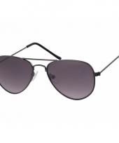 Carnavalskleding zwarte kinder pilotenbrillen model