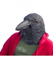 Carnavalskleding zwarte kraaien vogel masker