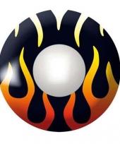 Carnavalskleding zwarte ooglenzen vlammen