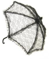 Carnavalskleding zwarte paraplu kant