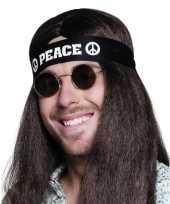 Carnavalskleding zwarte peace haarband volwassenen