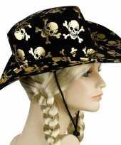 Carnavalskleding zwarte piraten cowboyhoeden