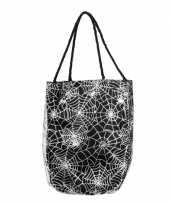 Carnavalskleding zwarte spinnenweb handtas