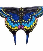 Carnavalskleding zwarte zwaluwstaartvlinder kindervleugels
