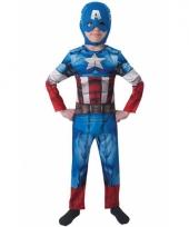 Compleet captain america carnavalskleding for kids