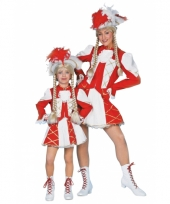 Dansmarieke carnavalskleding rood meisjes