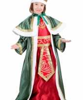 De drie wijzen groen carnavalskleding kinderen