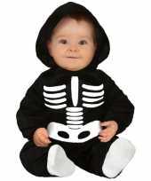 Halloween skelet carnavalskleding baby peuter