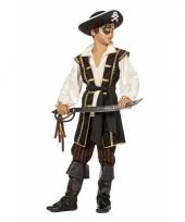 Jack piraat carnavalskleding bruin jongens