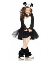 Panda beer carnavalskleding meisjes