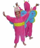 Pluche vlinder carnavalskleding kinderen