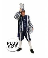 Plus size blauw prins carnaval carnavalskleding heren