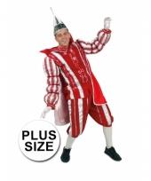 Plus size rood prins carnaval carnavalskleding heren