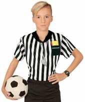 Voetbal scheidsrechter carnavalskleding shirt jongens opdruk