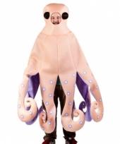 Zalmroze octopus carnavalskleding volwassenen